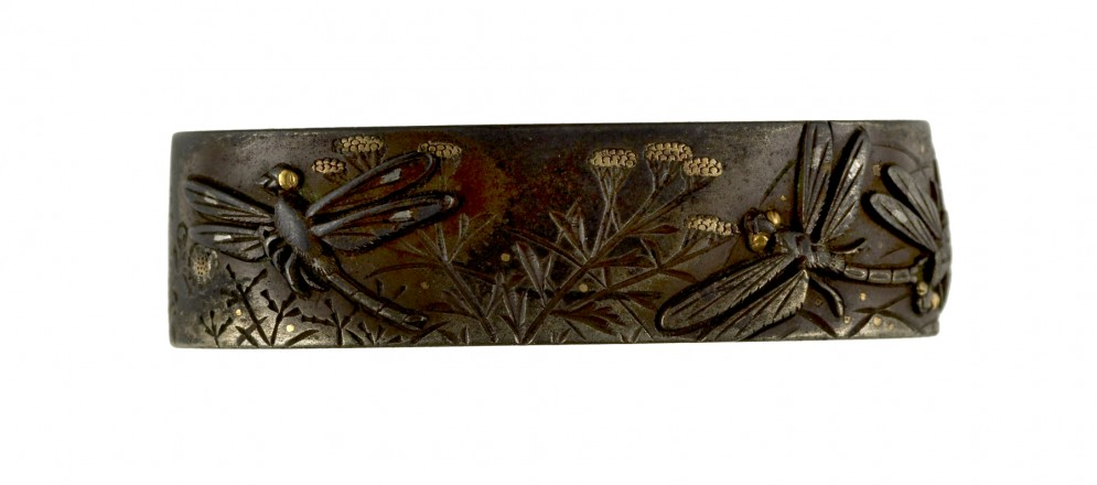 Fuchi with Dragonflies and Maiden Flowers