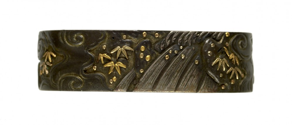 Fuchi with Waterfall and Bamboo