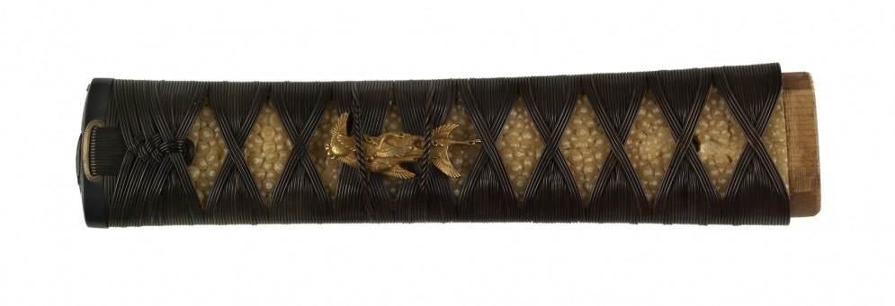 Tsuka with Birds, Landscape and Boats