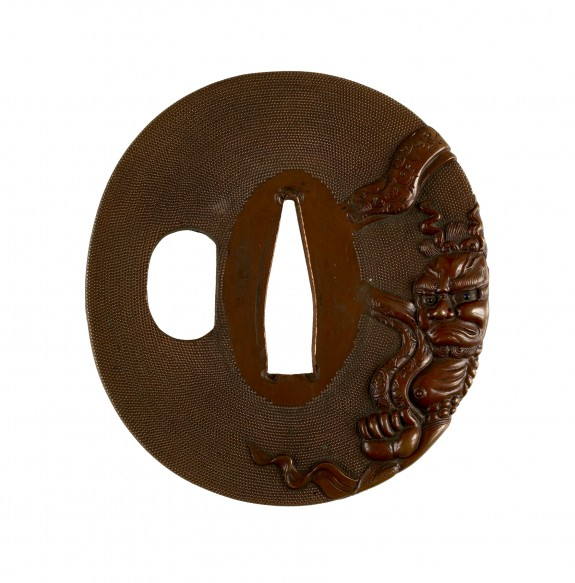 Tsuba with Gate Guardian