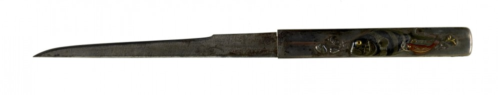 Kozuka with Fish and Net