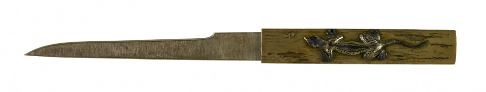 Kozuka with Lizard and Orchids