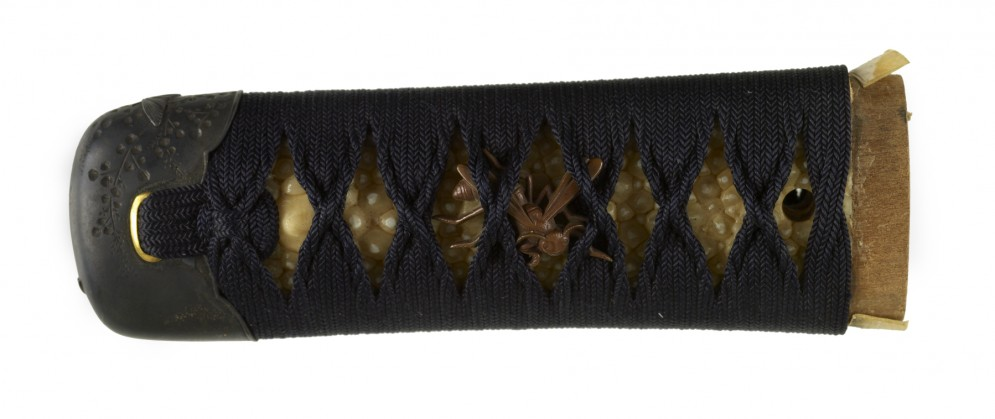 Tsuka with Insects and Flowers