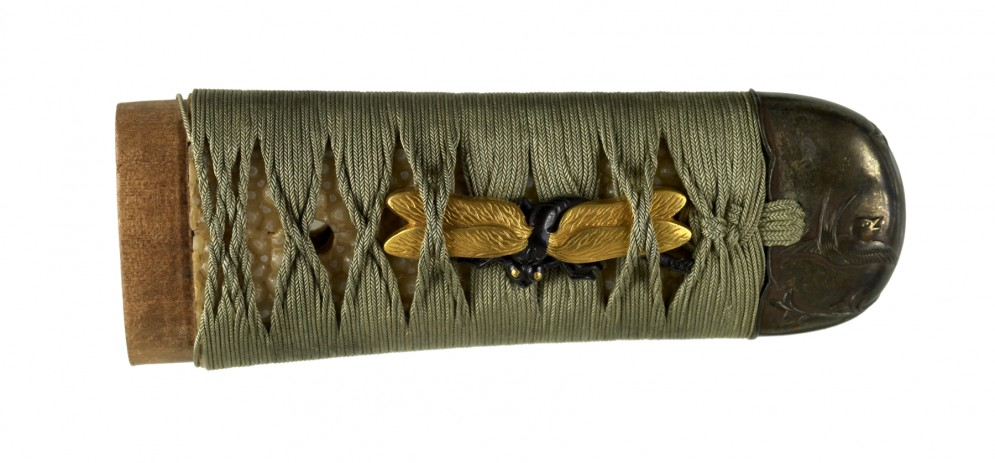 Tsuka with Dragonflies and Swallows
