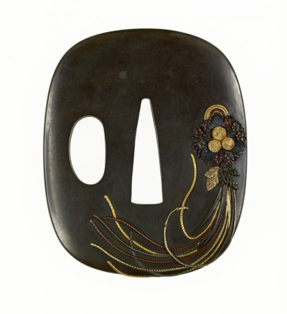 Tsuba with a Hanging Bouquet (