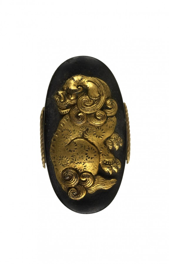 Kashira with Chinese-style Lion
