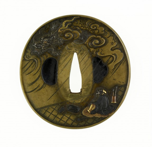 Tsuba with Wu Daozi's Dragon Painting Coming to Life
