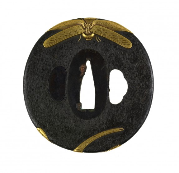 Tsuba with Two Dragonflies