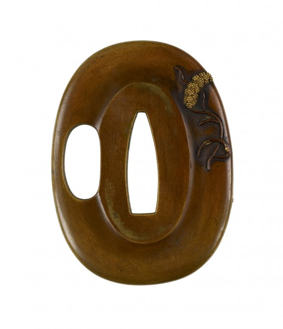 Tsuba with Stalks of Millet