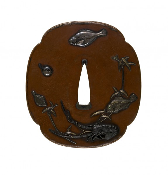 Tsuba with Fish