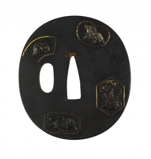Tsuba with Animals from the Chinese Zodiac