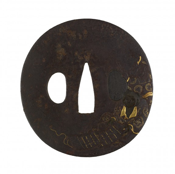 Tsuba with Kanzan and Jittoku