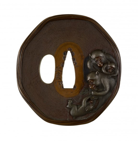 Tsuba with Monkeys