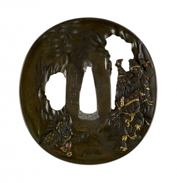Tsuba with Enshi (Ch. Yen Tzu), One of the Twenty Four Paragons of Filial Piety