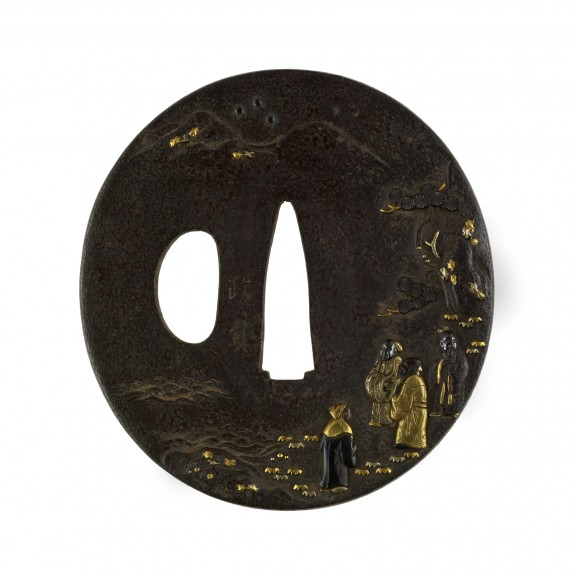 Tsuba with Chinese Star Gods