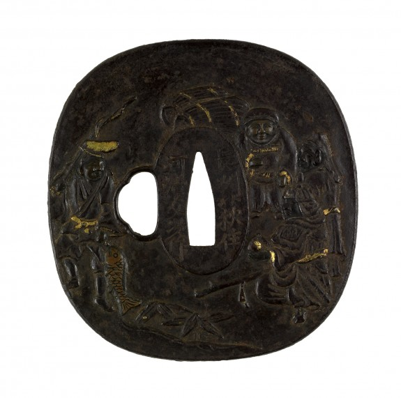 Tsuba with the Seven Gods of Fortune