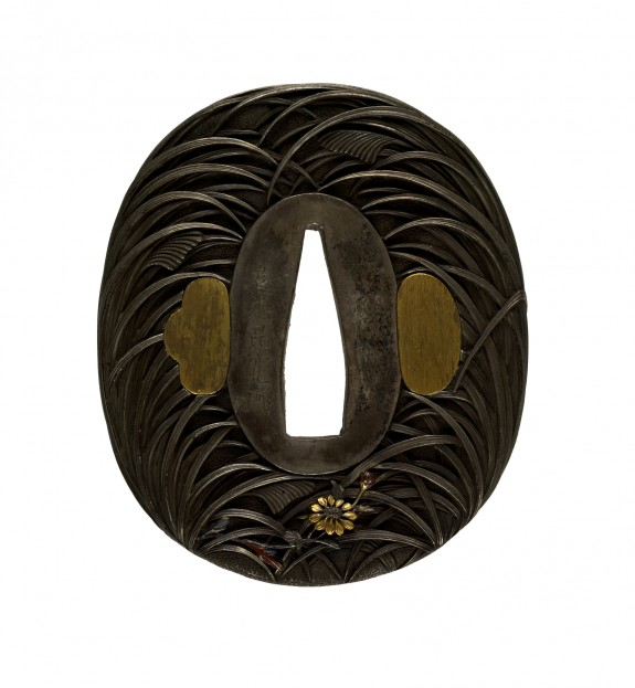 Tsuba with Autumn Grasses and Insects