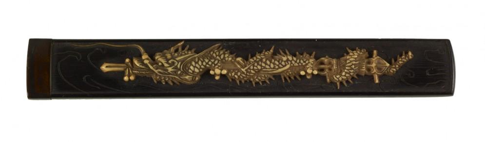 Kozuka with a Dragon Coiled around a Sword