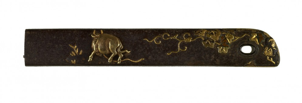 Kozuka with Ox and Ivy