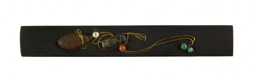 Kozuka with Inro, Bag, and Netsuke