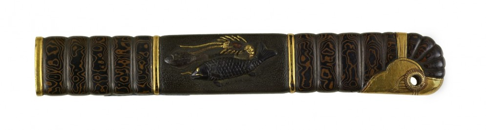 Kozuka with Two Fish and a Spiny Lobster