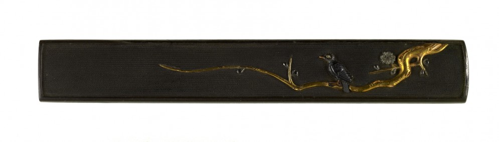 Kozuka with a Bird on Flowering Plum Branch