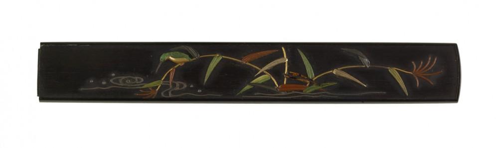 Kozuka with a Kingfisher on Reeds