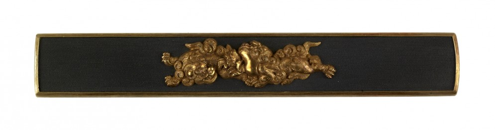 Kozuka with Two Chinese-style Lions
