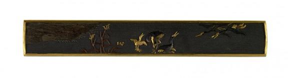 Kozuka with Cranes and Reeds
