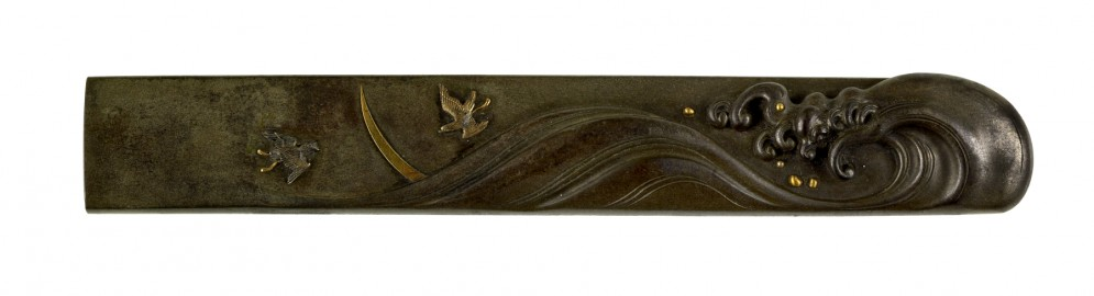 Kozuka with Plovers and Waves