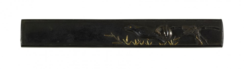 Kozuka with Crow and Heron in Reeds