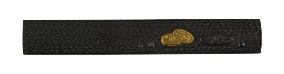 Kozuka with Gold and Silver Coins