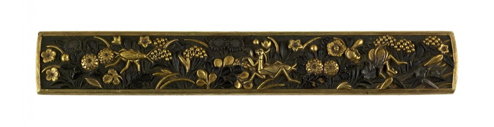 Kozuka with Insects and Autumn Flowers