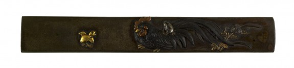 Kozuka with Rooster, Chicks, and Chrysanthemums