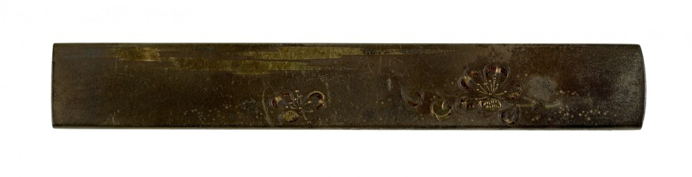 Kozuka with Cherry Blossoms, Moon and Poem