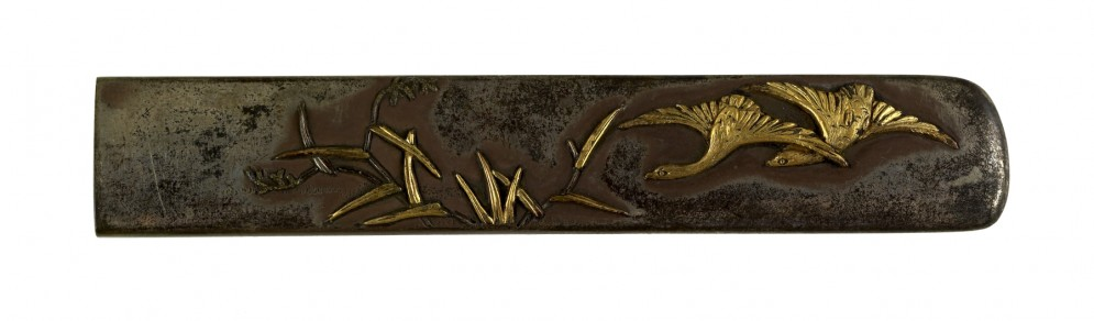 Kozuka with Geese and Reeds