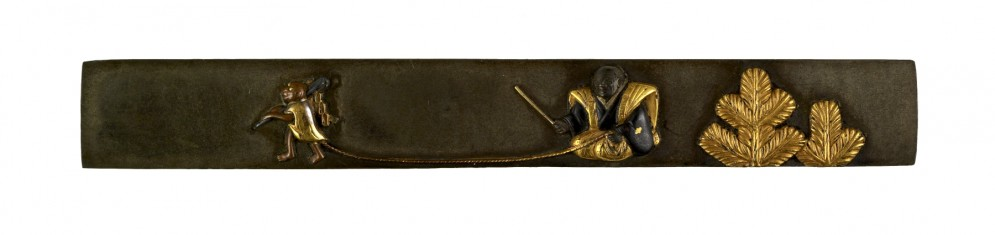 Kozuka with a Performing Monkey