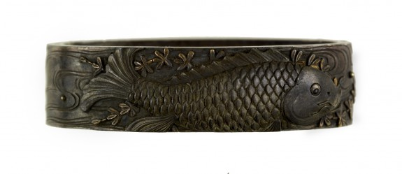 Fuchi with Carp and Water Milfoil