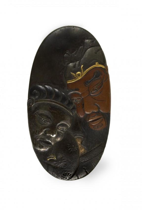 Kashira with the Chinese General Kanyu (Ch. Guan Yu [Kuan Yu])