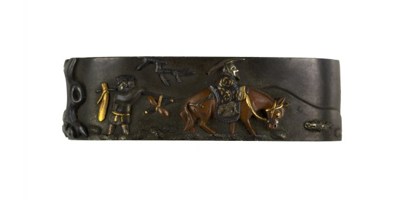 Fuchi with a Chinese Man on a Horse and a Peasant