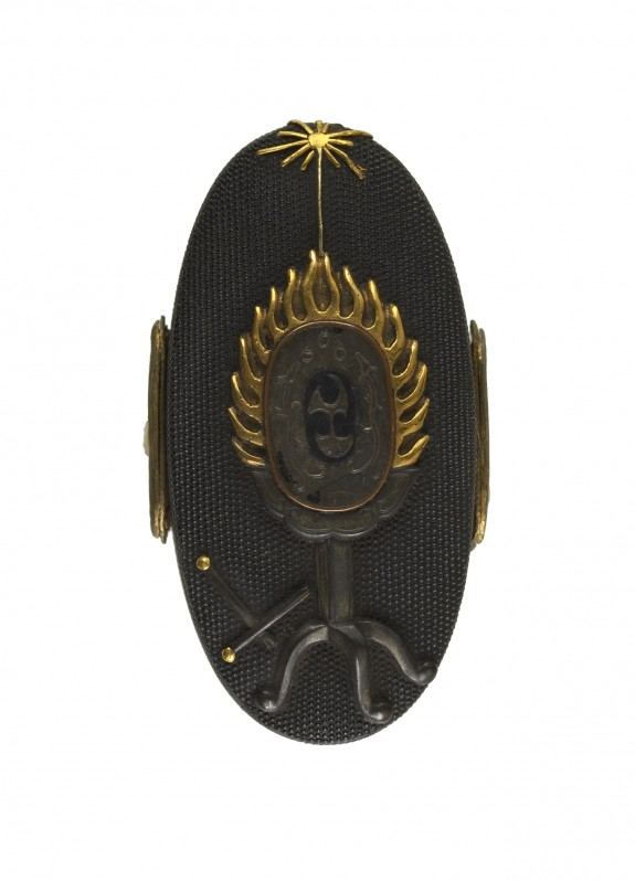 Kashira with Gaguku Drum on a Stand