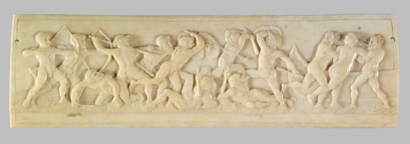 Plaque with a Battle of Naked Men over the Abduction of a Woman