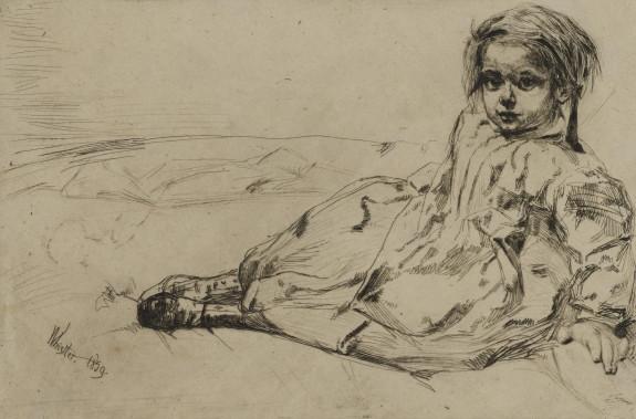 Bibi Valentin, portrait of a girl
