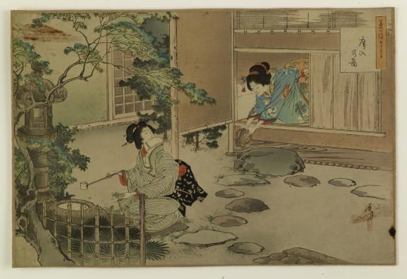 Teahouse Garden with Ladies