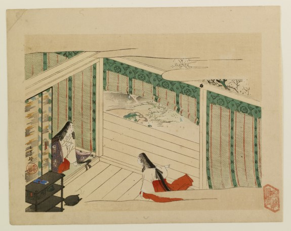 Heian-period Interior with Women