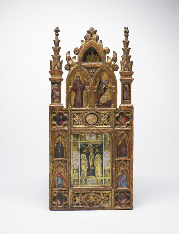 Wing of a Reliquary Diptych with the Crucifixion and Saints