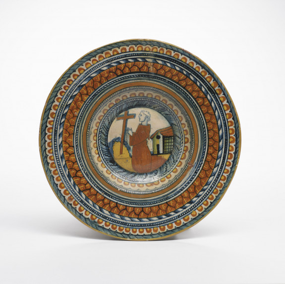 Plate with Saint Francis