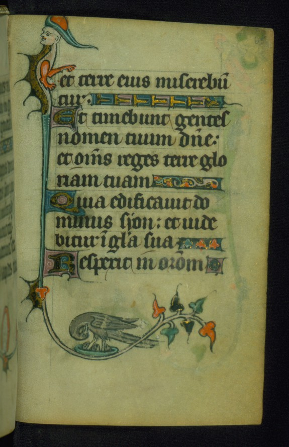 Incomplete Book of Hours: Hours of the Virgin, Pelican Wounding Chest to Feed Young with her Blood