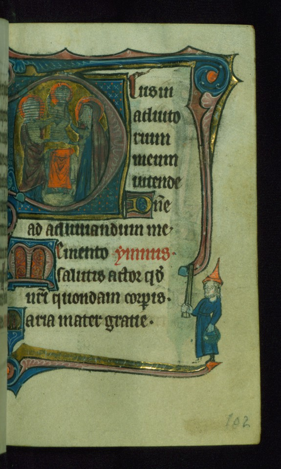 Leaf from Book of Hours: None, Initial