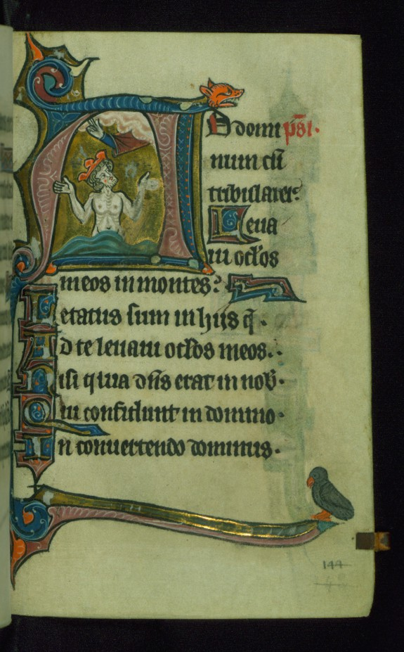 Leaf from Book of Hours: Fifteen Gradual Psalms, Initial